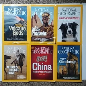 Jan-June 2008 National Geographic magazines GUC
